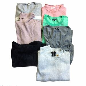 Women's Sweater Bundle Box Lot of 7 Clothing
